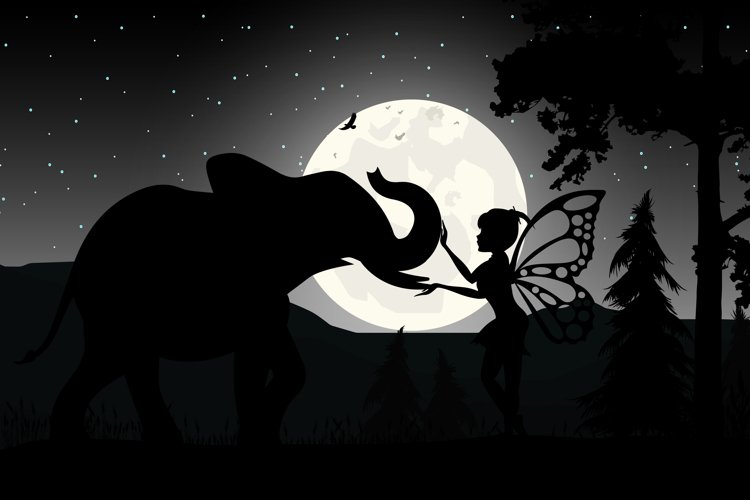 fairy and elephant silhouette example image 1