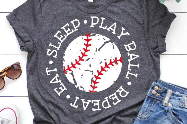 Eat Sleep Play Ball Repeat SVG, DXF, PNG, EPS