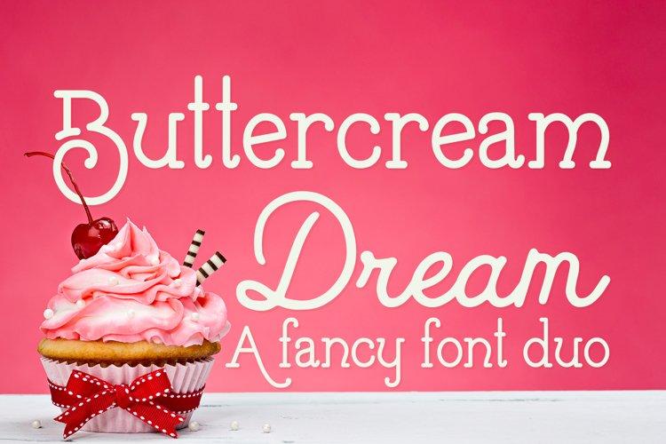 Buttercream Dream - A fancy font duo