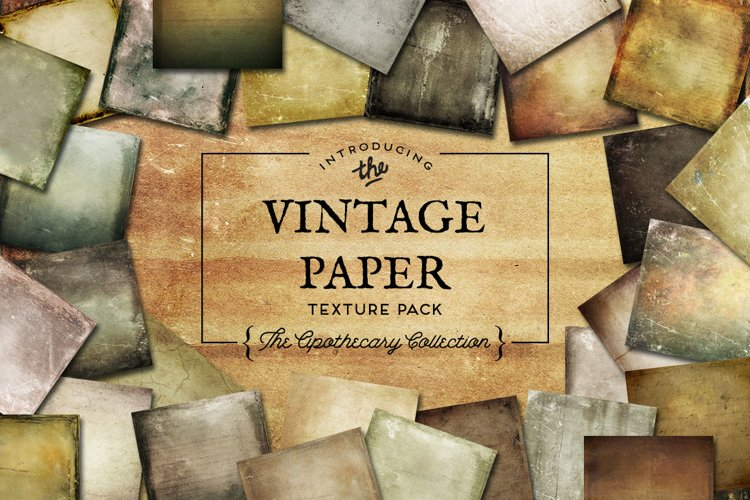 Vintage Paper Textures The Apothecary Collection example image 1