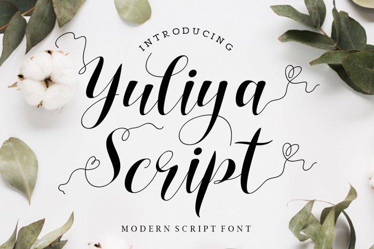 Yuliya Script example image 1