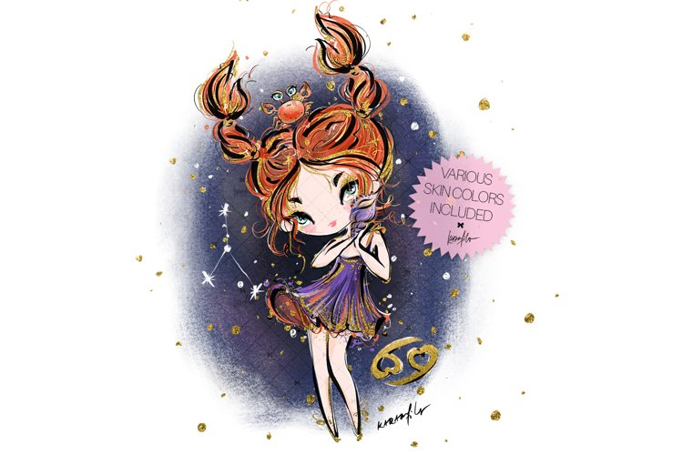 Zodiac Cancer Clipart