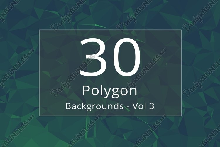 30 Polygon Backgrounds - Vol 3 example image 1