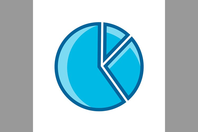 chart symbol blue color, Vector Illustration example image 1