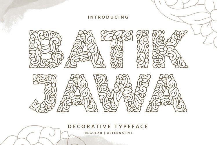 Batik Jawa Decorative Victorian Handwritten example image 1