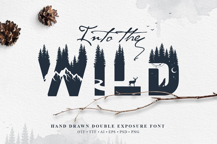 Into The Wild - Double Exposure Font