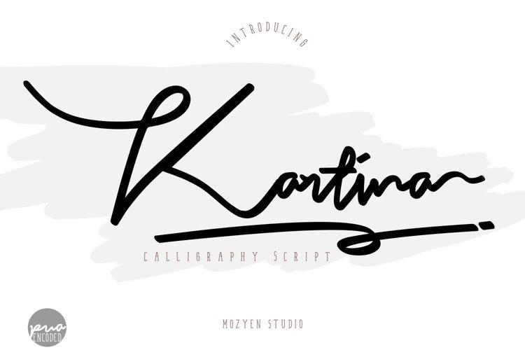 Kartina | Calligraphy Script example image 1