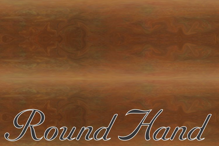 Roundhand example image 1