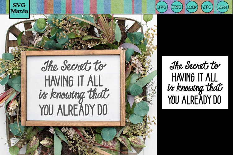 Inspirational Quote SVG File, Wood Sign Saying SVG, SVG File example image 1