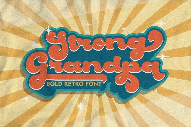 Strong Grandpa - Bold Retro Font example image 1