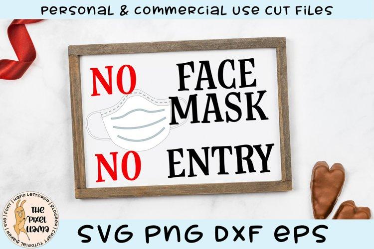 No Face Mask No Entry Sign SVG