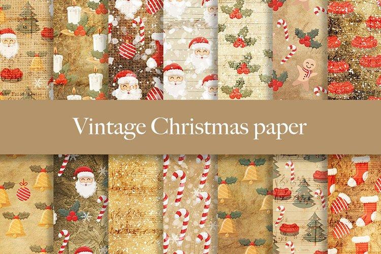 Vintage Christmas digital paper pattern example image 1