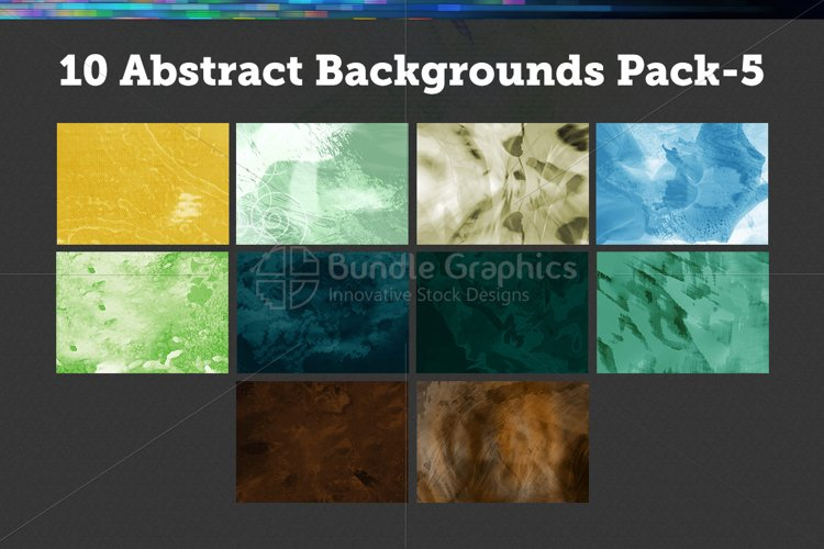 10 Abstract Backgrounds – Pack-5 example image 1
