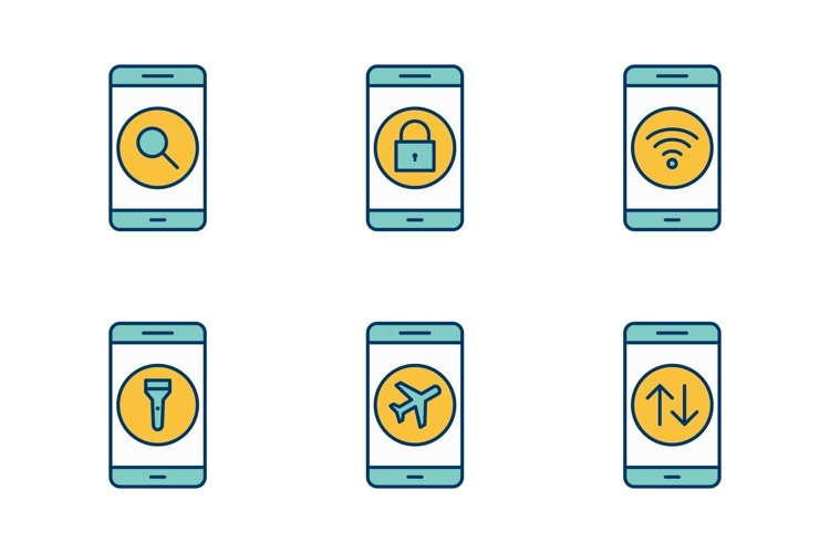 Set Of Mobile Apps Icons example image 1