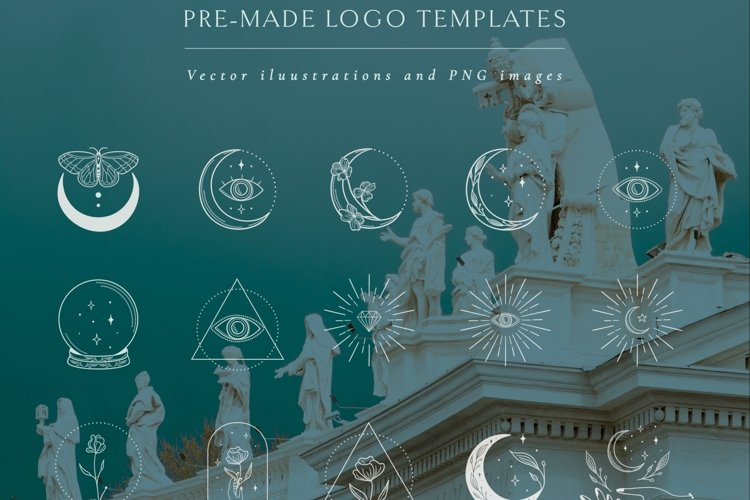 White Logo Elements Vector illustrations. Social Media. example image 1