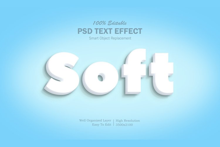 3D soft Text Effect example image 1