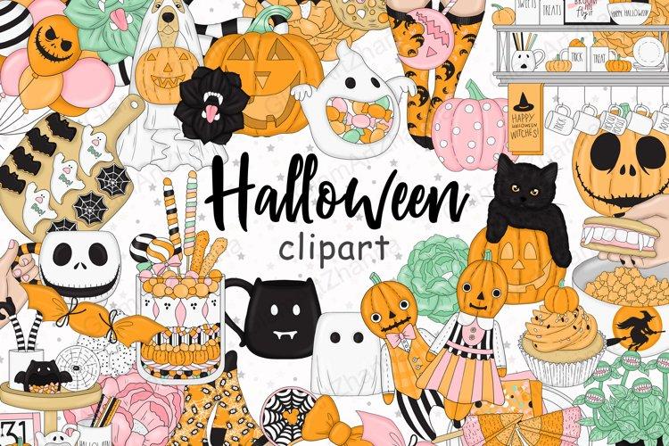 Halloween CLIPART, Fall clipart, Pumpkin clipart - PNG files