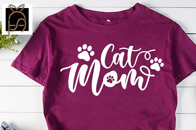 Cat Mama - Cat mom - Cat Paw SVG DXF EPS PNG