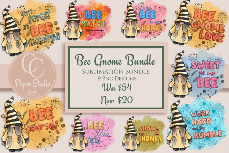 Gnome sublimation bundle - Spring Bee Designs - Lettering