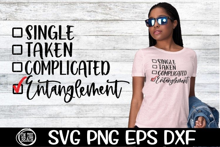 Entanglement - Single - Taken - Complicated- SVG PNG EPS DXF example image 1