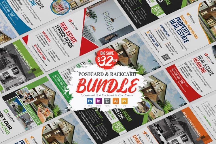 Real Estate Postcard Rackcard Bundle