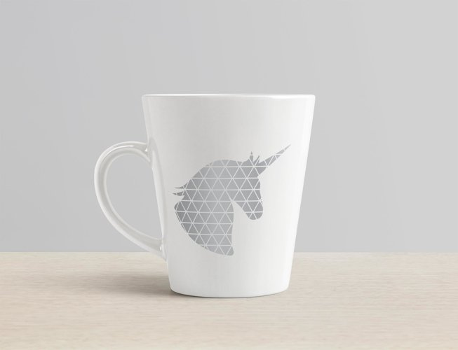 Geometric Unicorn SVG illustration | Geometric Animals SVG example 2