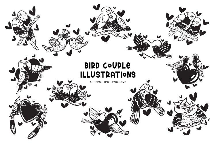 Bird Couple illustrations