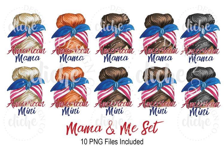 Patriotic Mama & Me Sublimation Design Bundle