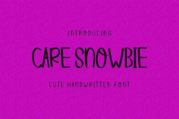 Care Snowbie | Modern Handwritten example image 1