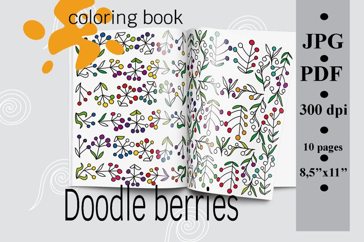 Doodle berries Coloring book, Printable coloring pages