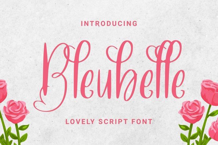 Web Font Bleubelle Font example image 1