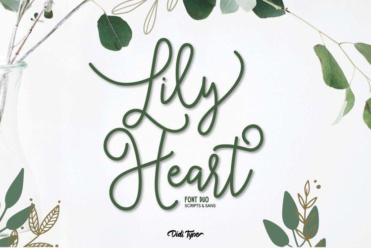 Lily Heart Font Duo   Script & Sans example image 1