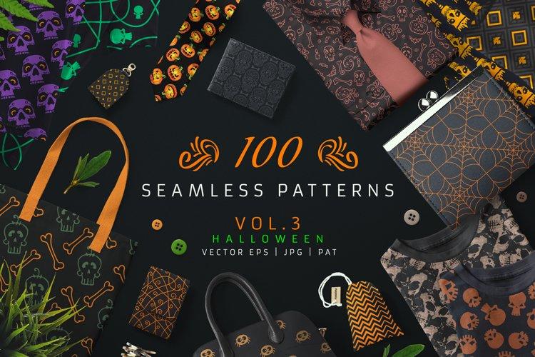 100 Seamless Patterns Vol.3 Halloween example image 1