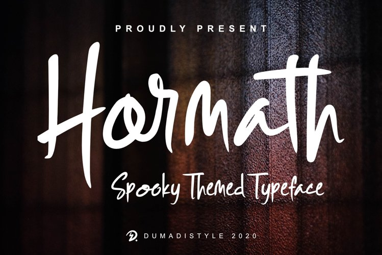 Hormath - Spooky Themed Typeface example image 1