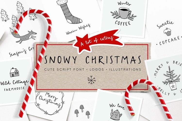 Snowy Christmas script font & logos example image 1