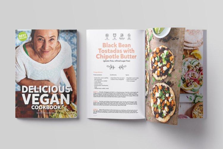 Vegan CookBook Magazine Template