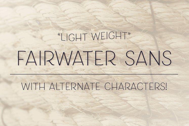 Fairwater Sans Light example image 1