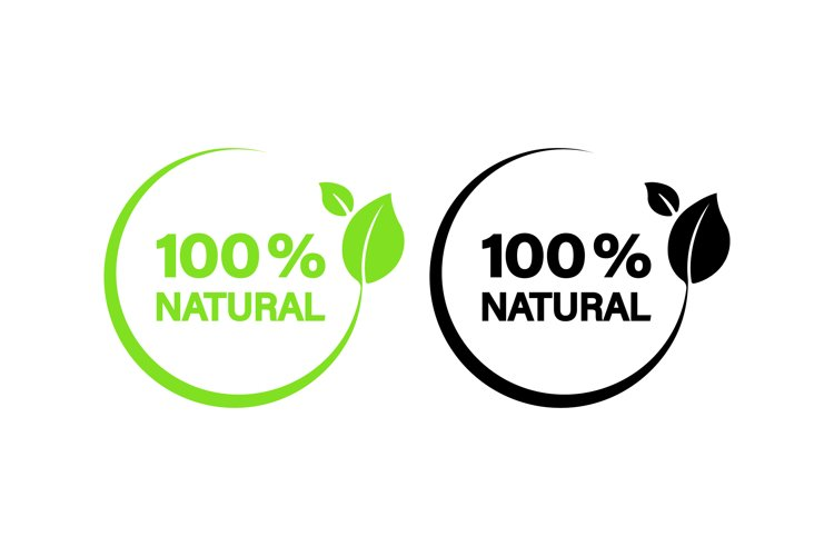 100 percent natural icon. Organic sign. Vector example image 1