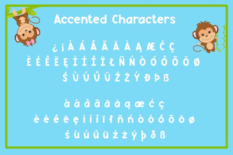 Monkey Mayhem - A fun and playful font example 5