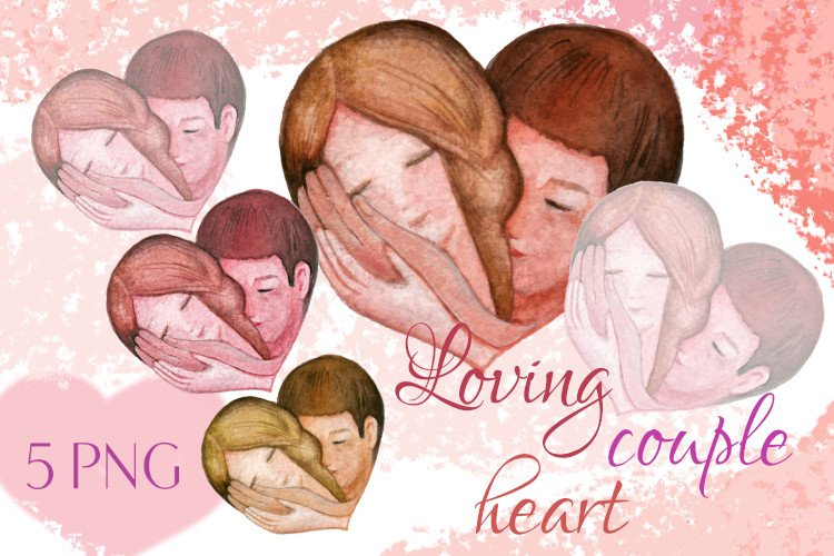 Loving couple heart, heart of a couple in love example image 1