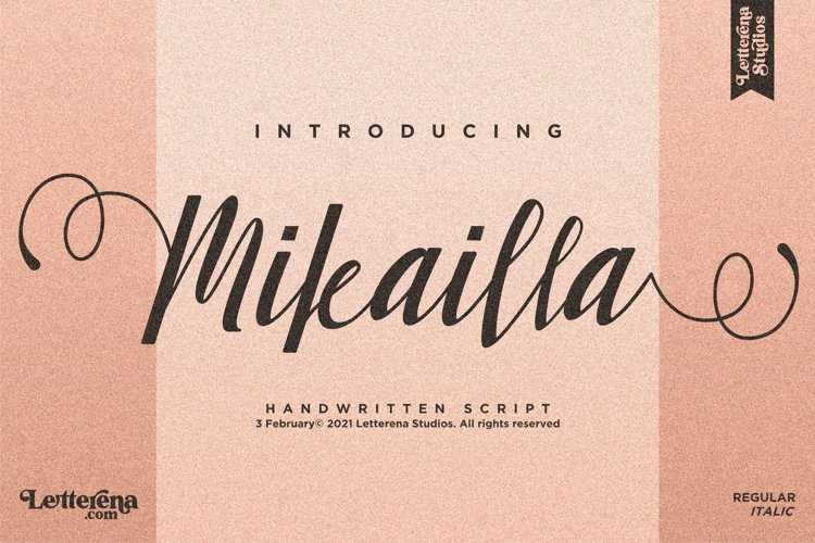 Mikailla - Beautiful Script Font example image 1