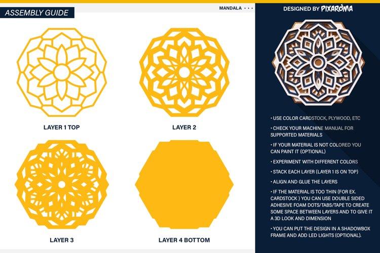 Mandala 3D Layered SVG Cut File - Laser Cutting example 3