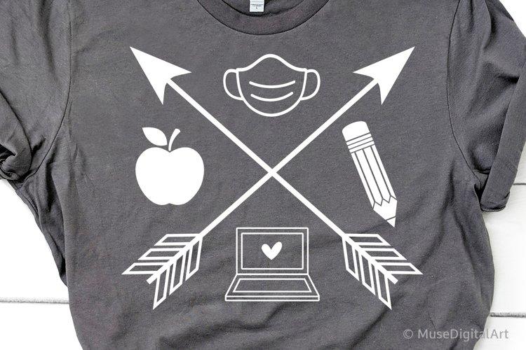 Teacher Back to School Svg, Online School Svg, Arrows Svg example