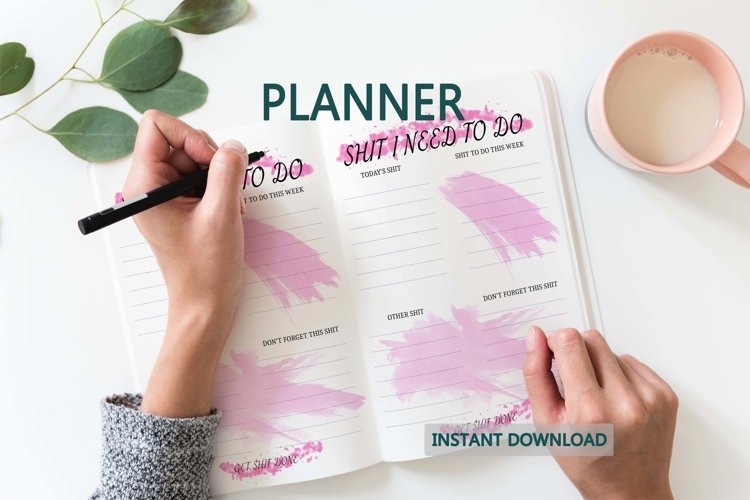 Daily TO DO printable planner