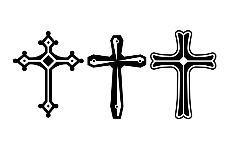 Christian Cross Silhouettes