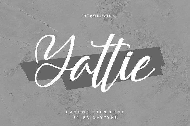 Yattie Handwritten Font example image 1