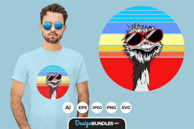 Animals Sunset for T-Shirt Design example image 1