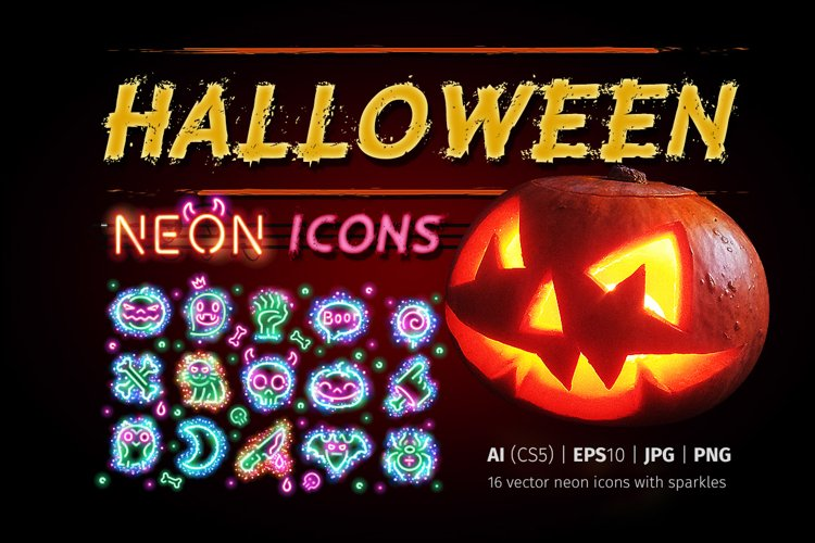 Halloween Icons with Sparkles example image 1