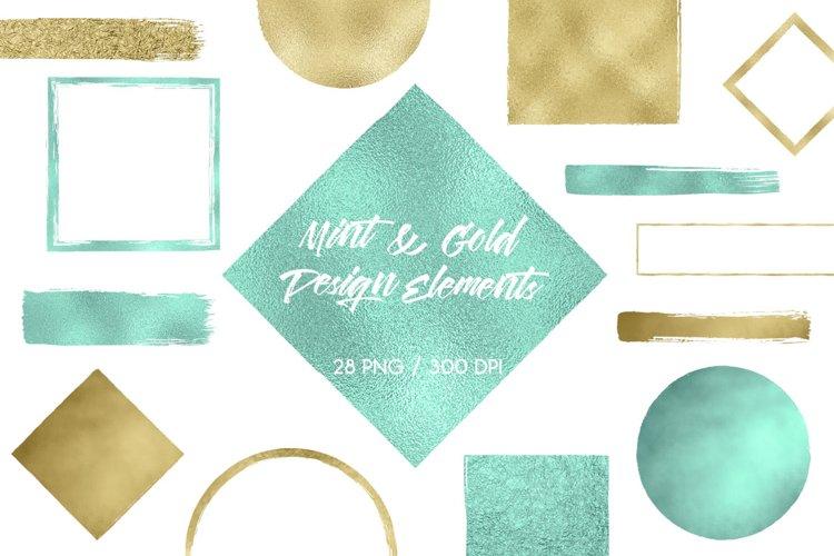 Gold & Mint Design Elements example image 1