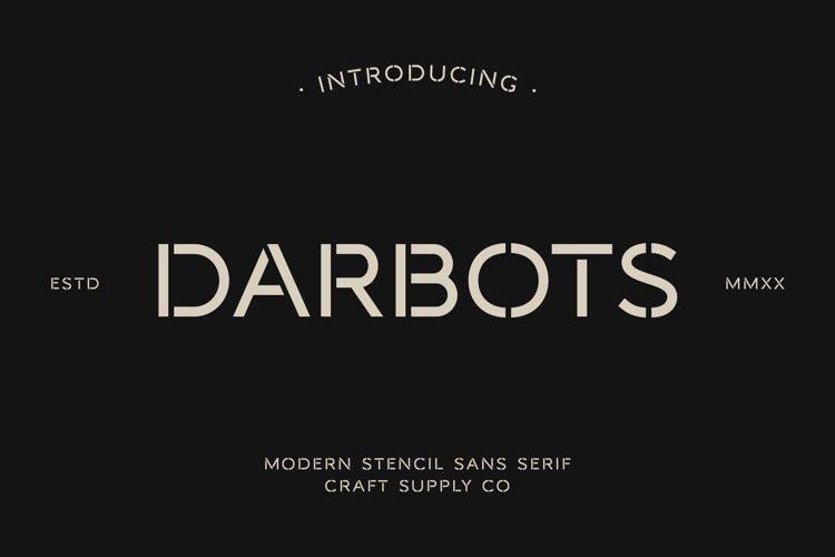 Darbots - Modern Stencil Sans Serif example image 1